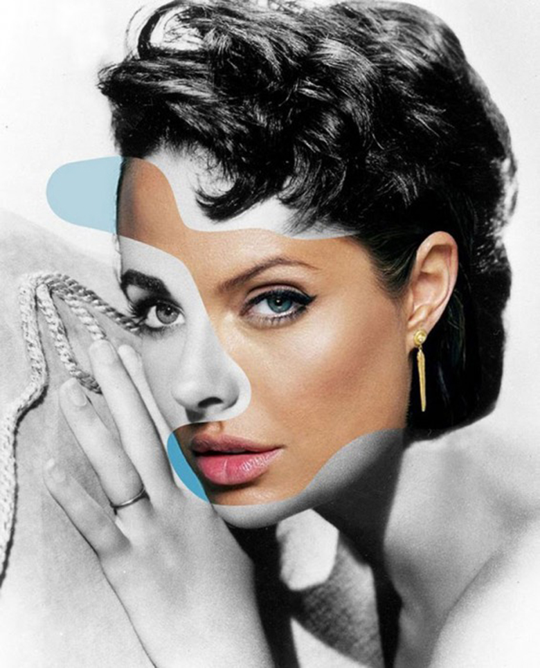 Angelina Jolie + Liz Taylor