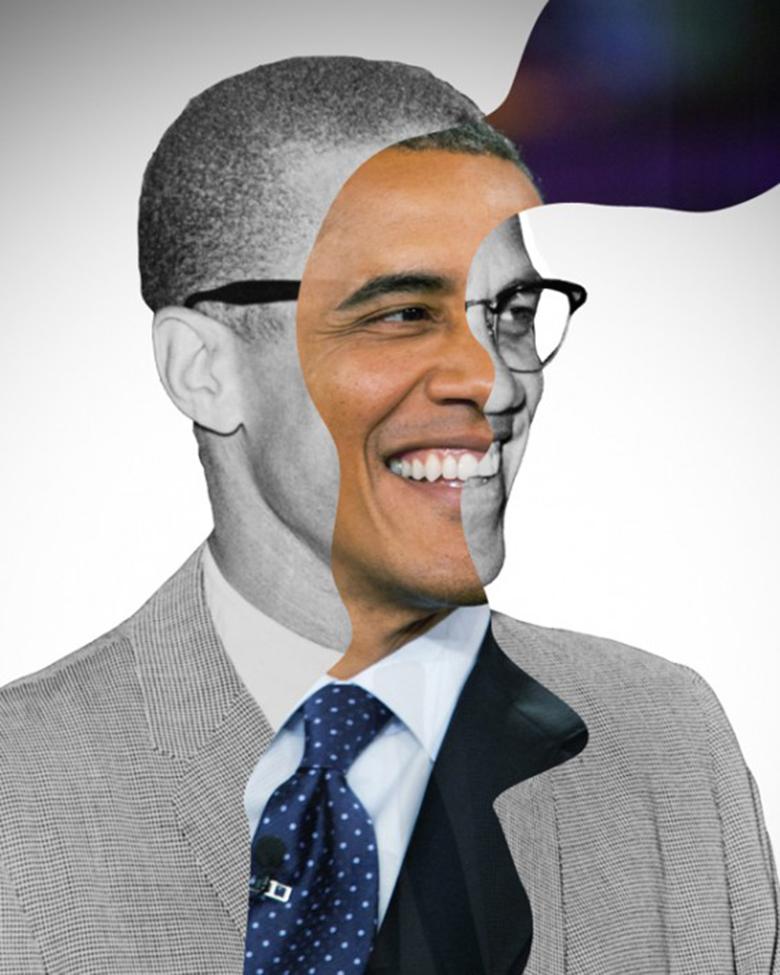 Obama + Malcolm X